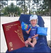 söka pass till barn